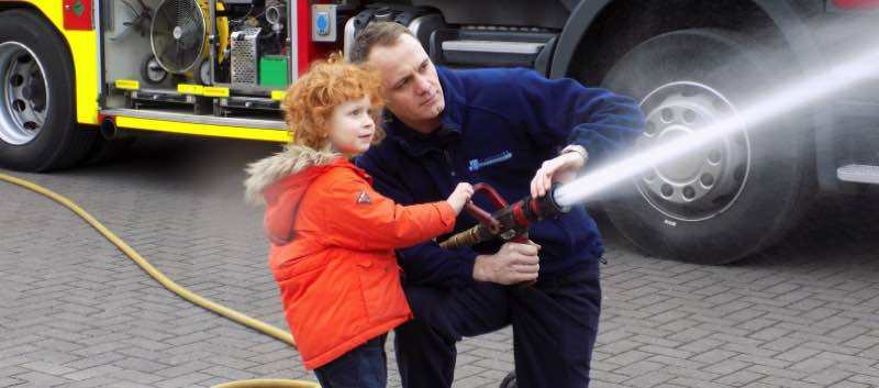 Northwich Firefighters Visit Chrysalis