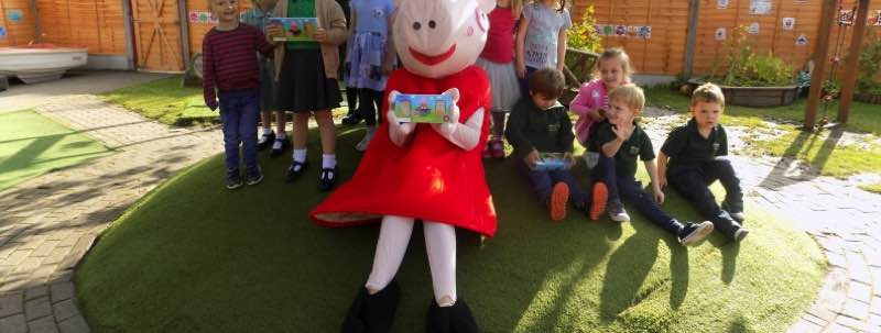 WOW! Peppa Pigs Visits Chrysalis!