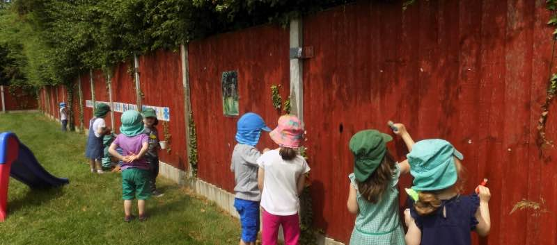 Fun For Pre-school in the Butterflies Garden!