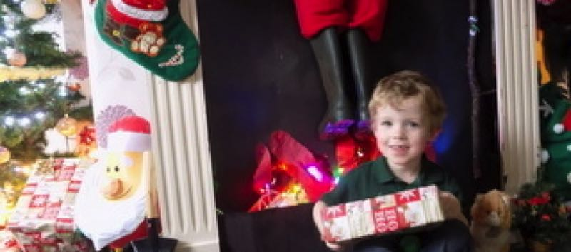 James Gave Father Christmas His Dummy At The Weekend…..