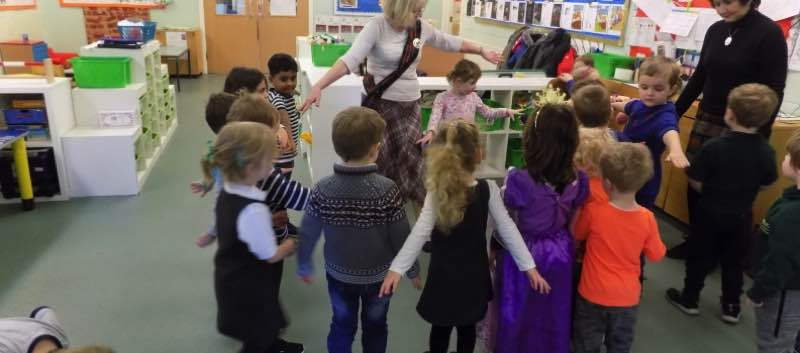 Scottish Dancing in Pre-school