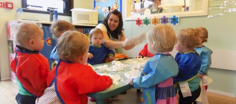 Sensory Experience for the Babies